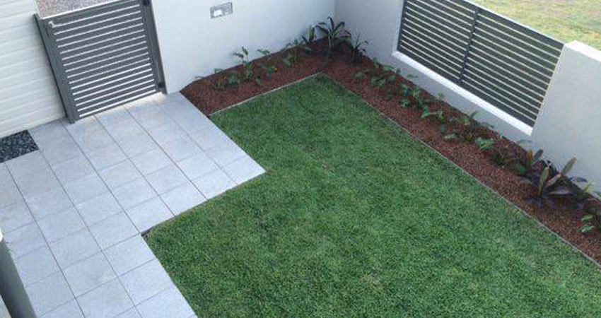 Instant Turf Backyard Installation Example Melbourne
